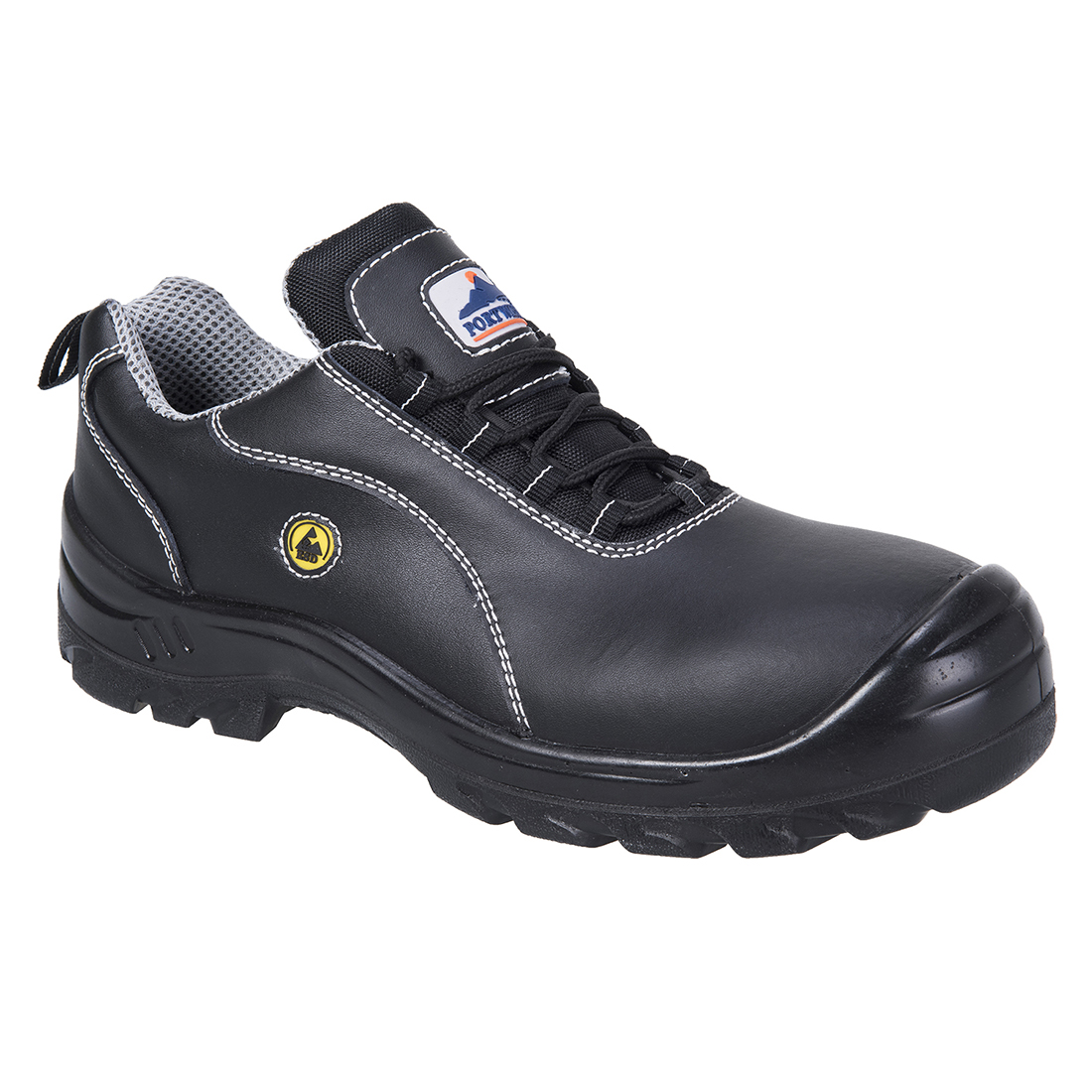 FC02/B BLACK ESD LEATHER SAFETY SHOE
