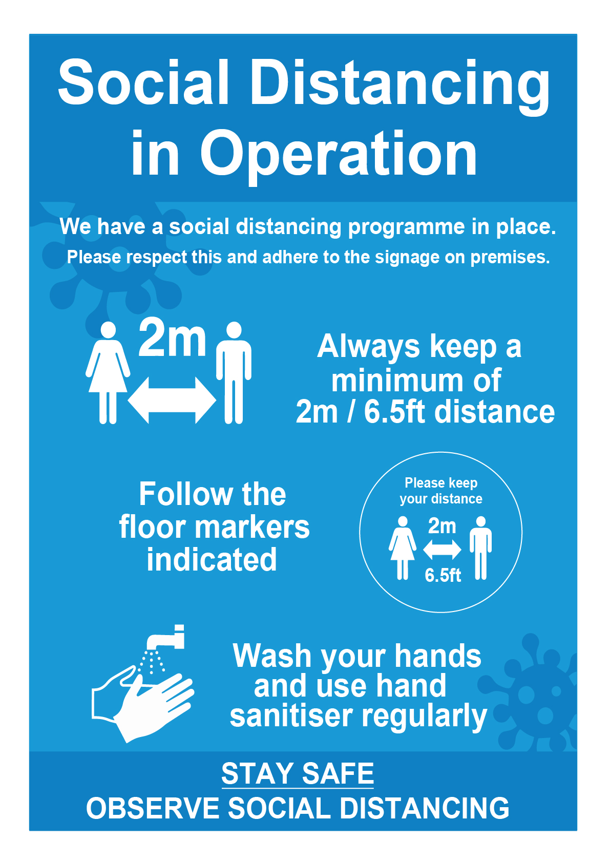 RSD-SIGN SOCIAL DISTANCING IN OPERATION