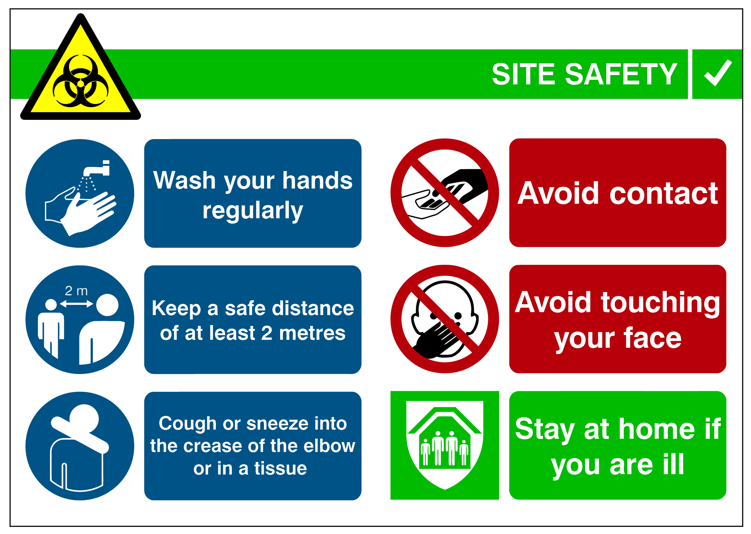 SS-A3 SITE SAFETY SIGN A3 - RIGID