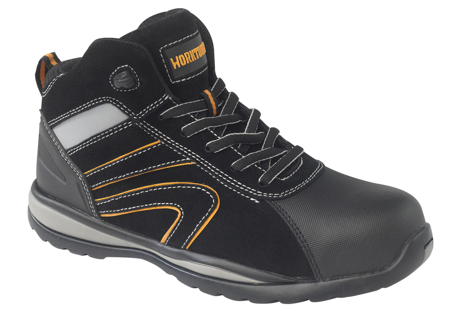 STRIKE/B WORKTOUGH STRIKE BLACK MID CUT