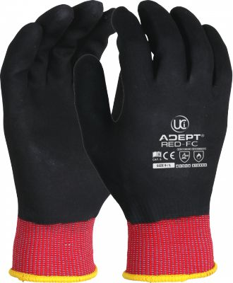 D3NY ADEPT RED FULLY COATED NITRILE