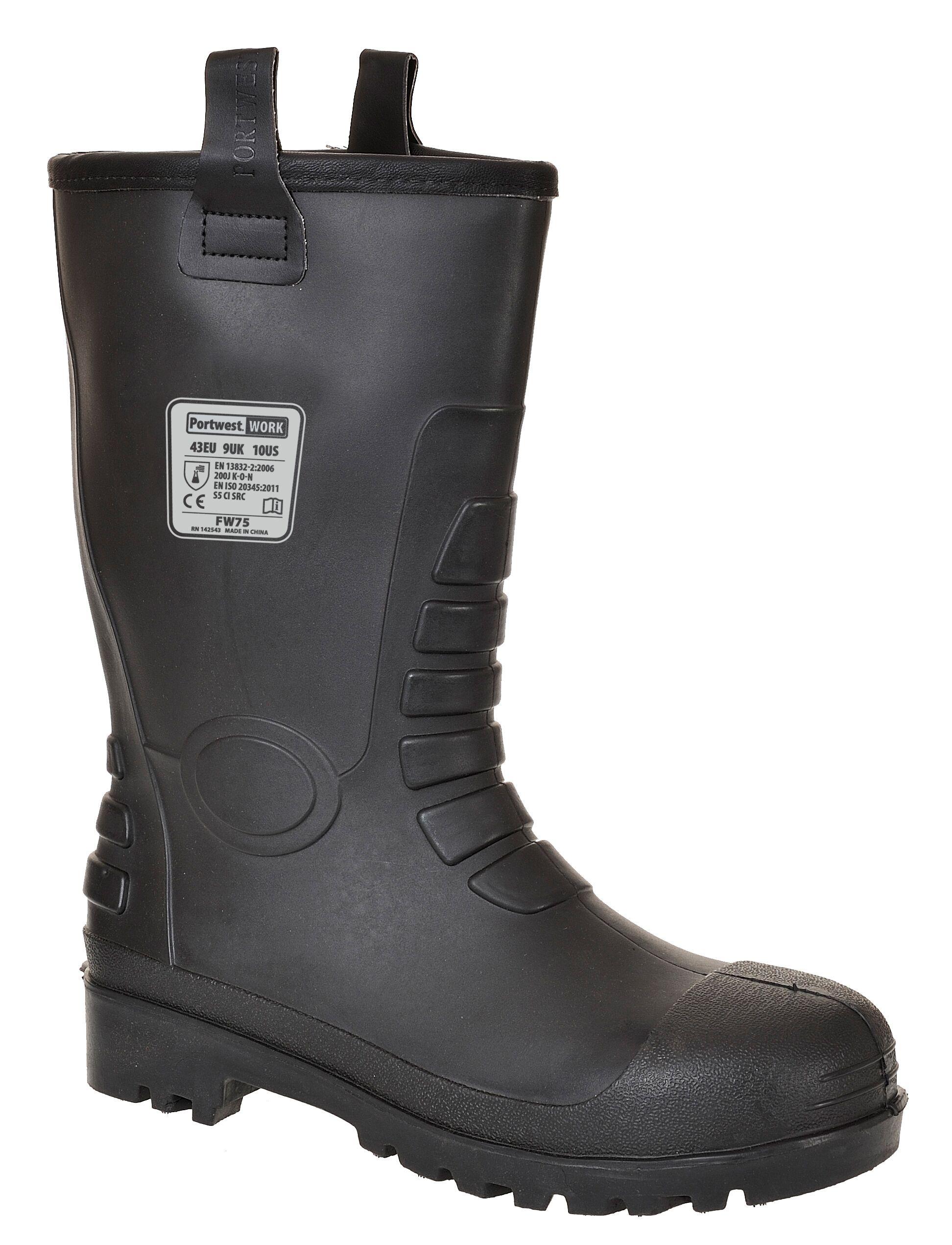 FW75/B NEPTUNE RIGGER BOOT BLACK S5 C
