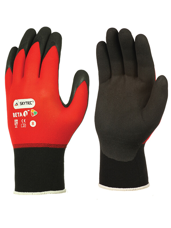 SKY50 BETA 1 NITRILE GLOVES RED/
