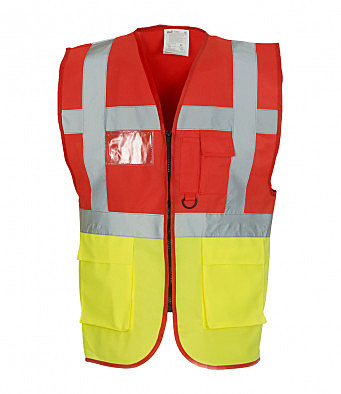 YK103/DY EXECUTIVE HI-VIS WAISTCOAT RED
