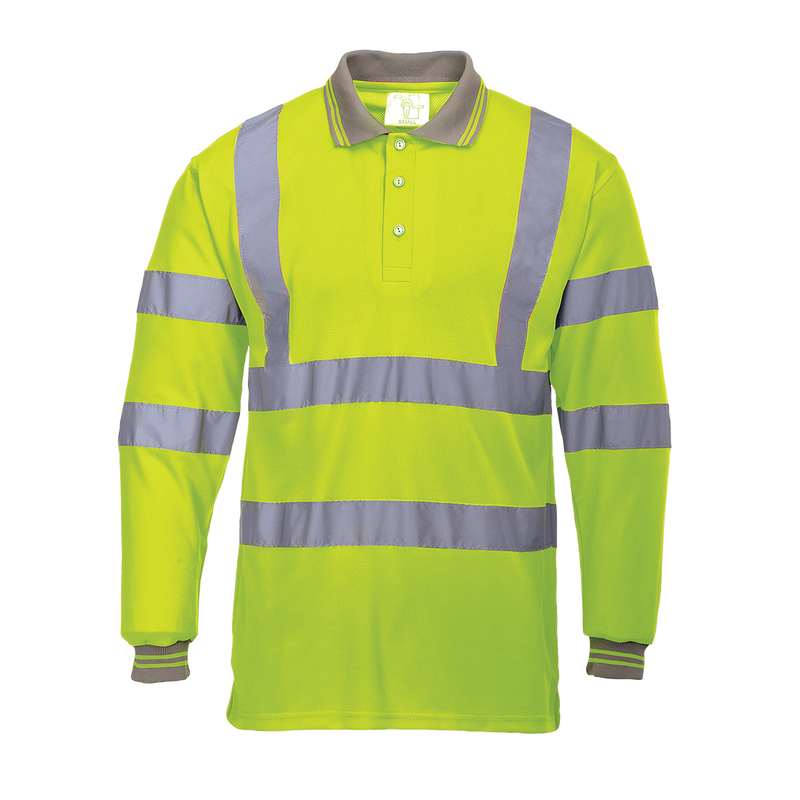 S277/Y HI-VIS LONG SLEEVE POLO YELLOW