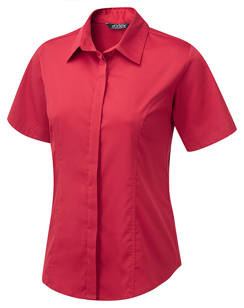 C2JF ZOE RED BLOUSE SHORT SLEEVE