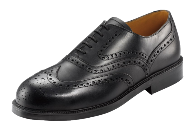 UMS047 LOTUS BLACK BROGUE SHOE(89381)