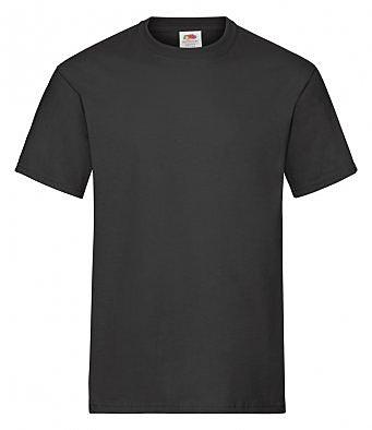 SA101/L HEAVY COTTON T-SHIRT BLACK
