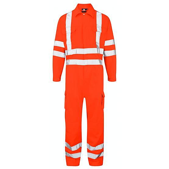 6600-65/OT HI-VIS SHRIKE COVERALL ORANGE