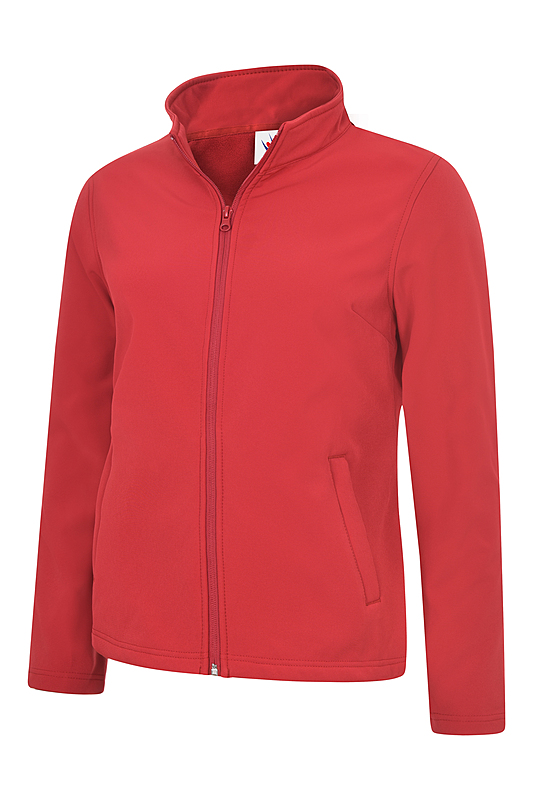 UC613/D LADIES CLASSIC SOFTSHELL RED