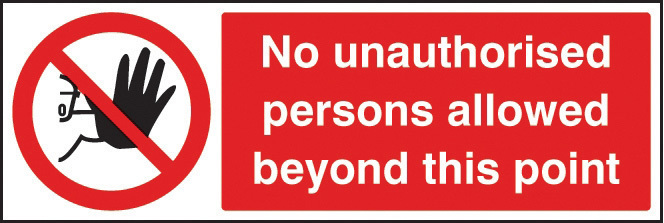 13202E/L NO PERSONS BEYOND THIS POINT