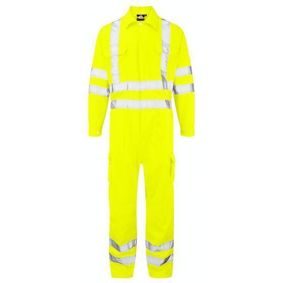 6600-65/YR HI-VIS SHRIKE COVERALL YELLOW