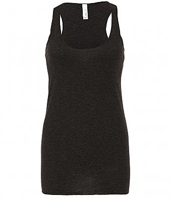 BL8430/CH LADIES RACER TANK TOP CHARCOAL
