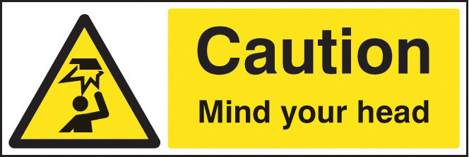 24216G CAUTION MIND YOUR HEAD S/ADH