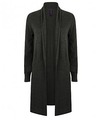 H719/L LADIES LONG CARDIGAN BLACK