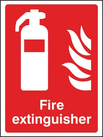 11013E SIGN FIRE EXTINGUISHER RIGID