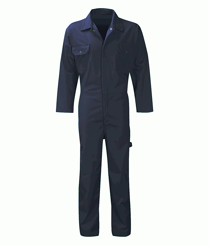 PC205BS/N STUD FRONT COVERALL NAVY