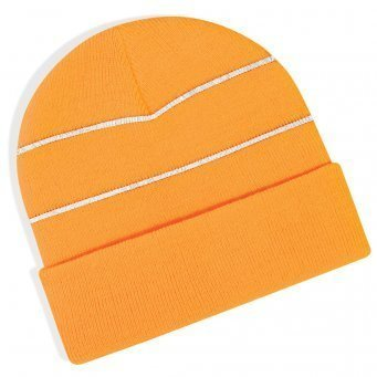 BB42/O HI-VIS KNITTED HAT ORANGE