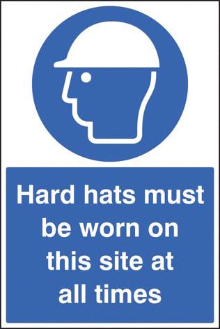 16401M HARD HATS MUST BE WORN RIGID