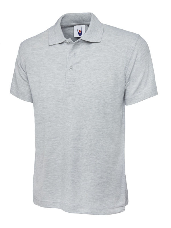 UC101/HG CLASSIC POLO HEATHER GREY