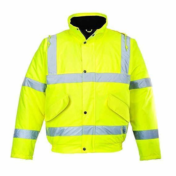 S463/Y HI-VIS BOMBER JACKET YELLOW