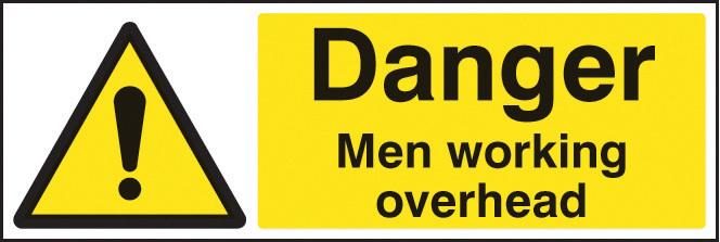 24202G DANGER MEN WORKING OVERHEAD