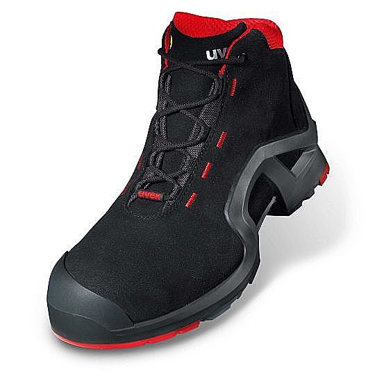 8517-2 UVEX-1 SUPPORT BOOT BLACK/RED