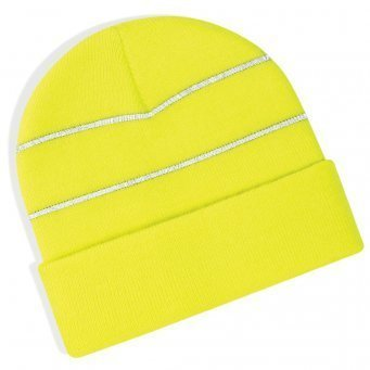 BB42/Y HI-VIS KNITTED HAT YELLOW