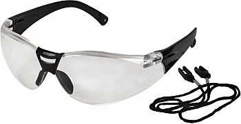 SAVU SAFETY GLASSES CLEAR WITH NECK