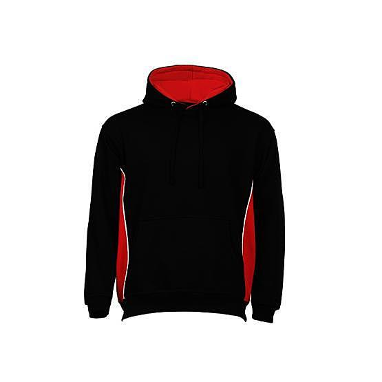 1295-15/LD SILVERSWIFT BLACK/RED HOODED