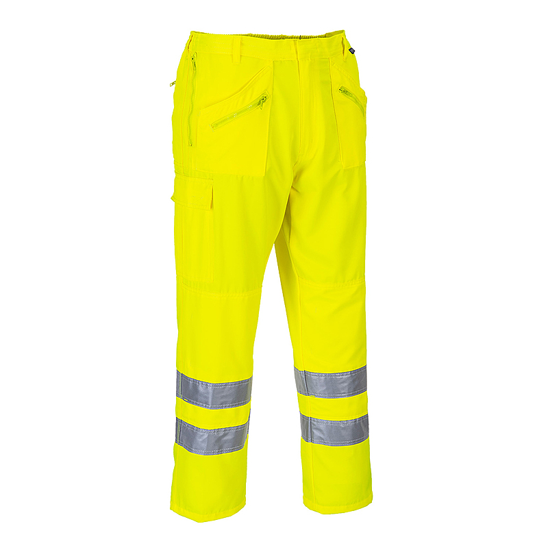 E061/YR HI-VIS ACTION TROUSERS YELLOW