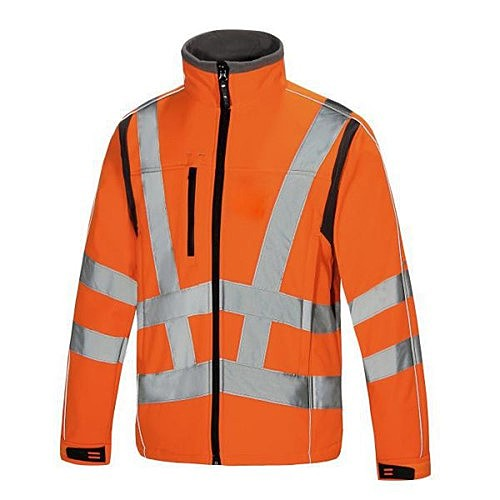 FJ075/O AQUA FLEECE SOFTSHELL ORANGE