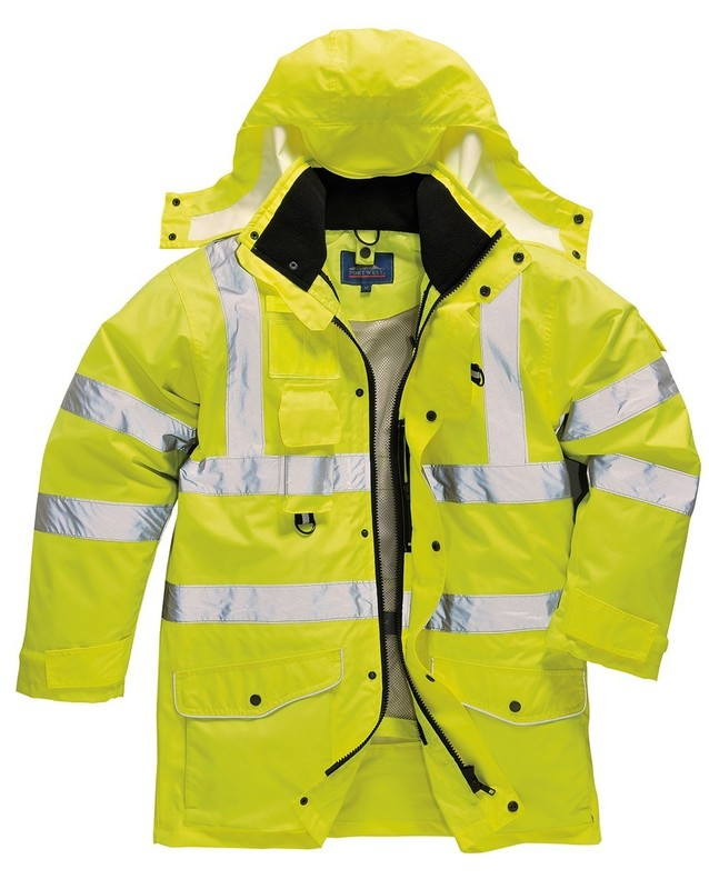 S427/Y HI-VIS 7 IN 1 JACKET YELLOW
