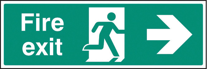 22004G FIRE EXIT RIGHT ARROW EMER0004