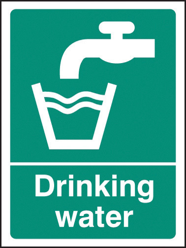 16007A SIGN DRINKING WATER RIGID 100
