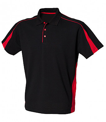 LV390/LD POLO SHIRT BLACK/RED