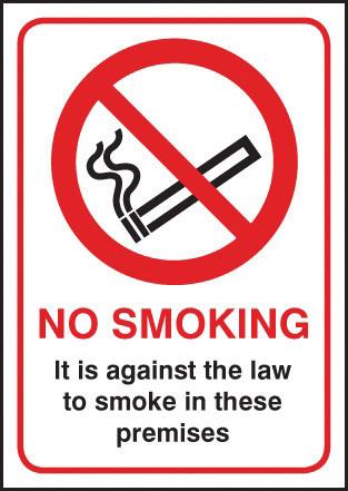 53043 SIGN NO SMOKING A5 RIGID