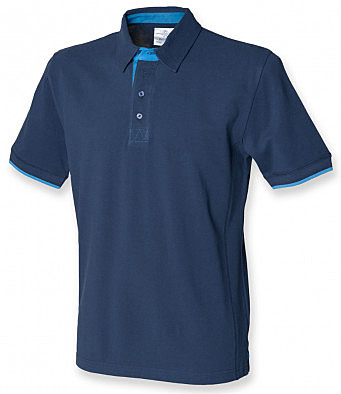 FR200/NMB FRONT ROW CONTRAST POLO NAVY/