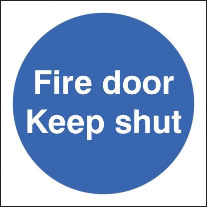 21610B FIRE DOOR KEEP SHUT S/ADH 80 X