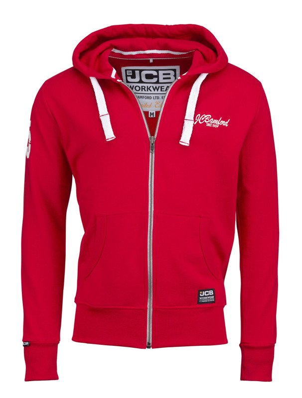 D+LA JCB LIMITED EDITION RED HOODIE