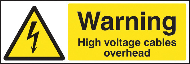14007M WARNING HIGH VOLTAGE CABLES