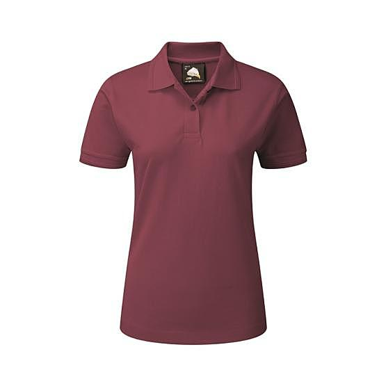 1160-10/BU LADIES WREN POLO BURGUNDY