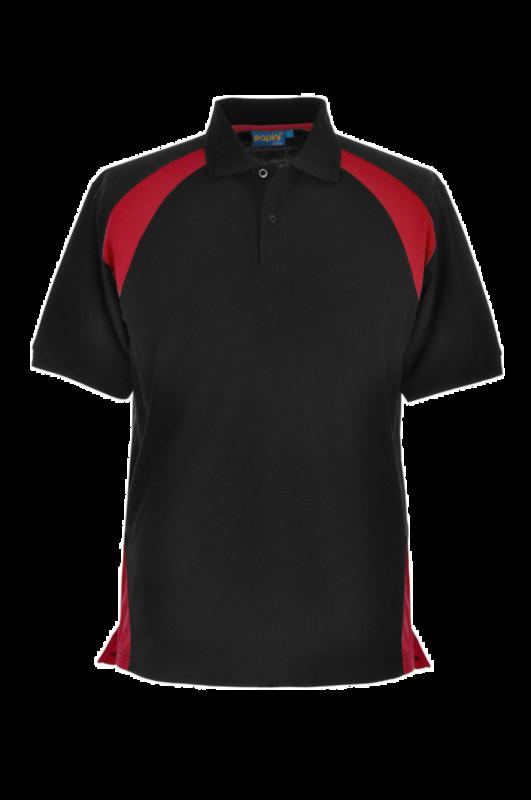 CL35 FERRARA ELITE POLO BLACK/RED