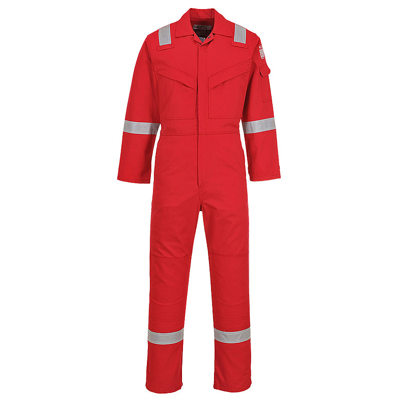 FR50/DR FR ANTISTATIC COVERALL RED REG