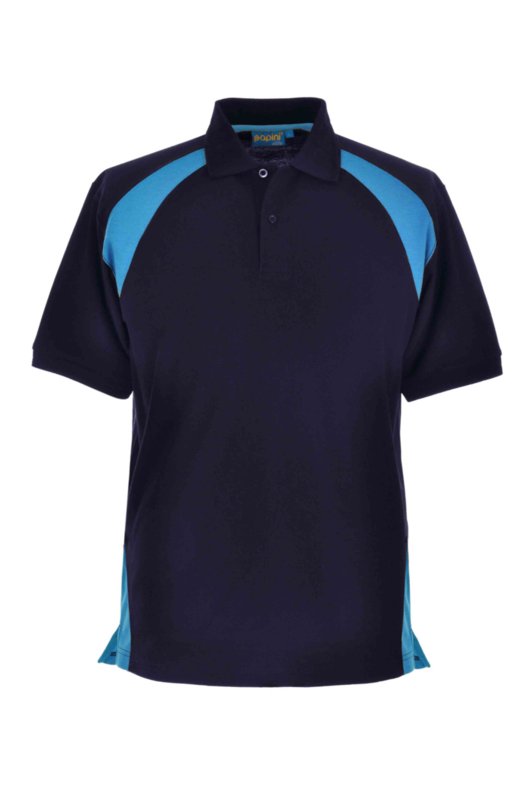CL32 ANCONA ELITE POLO NAVY/CYAN