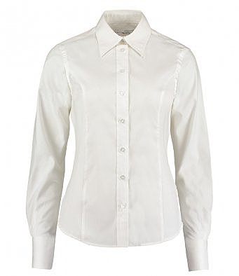 K702/W LADIES LONG SLEEVE SHIRT WHITE