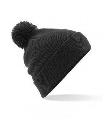 BB426/L Pom Pom Beanie Hat Black