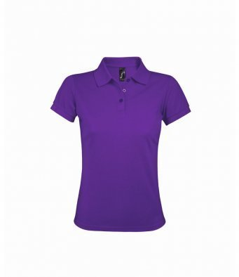 10573/DP LADIES POLOSHIRT DARK PURPLE