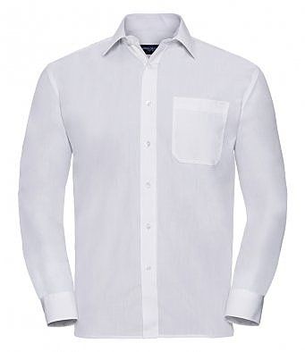 934M/W LONG SLEEVE POPLIN SHIRT WHITE