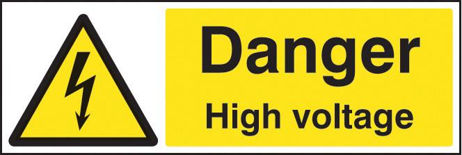 24009G DANGER HIGH VOLTAGE S/ADH 300